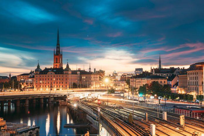 Stockholm, Sweden. Scenic View Of Stockholm Skyline